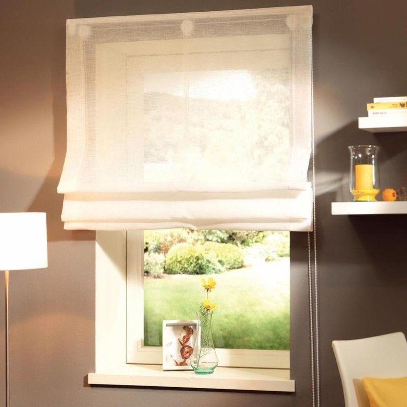 Rustipol Textil-Raffrollo Weiß 100 x 180 cm Wohnzimmer Pinterest - Raffrollo Für Wohnzimmer