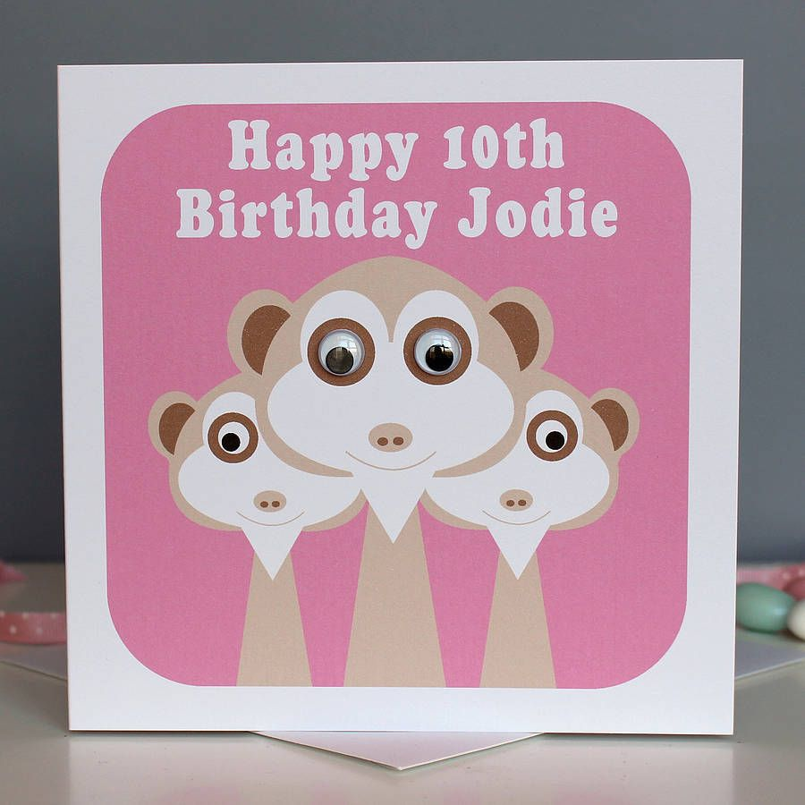 Wobbly Eyed Meerkat Card Products And Cards