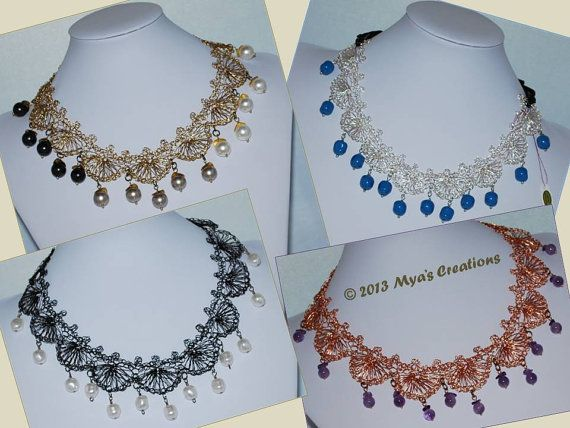 Pdf Crocheted Wire Shell Lace Necklace Tutorial How To Make A