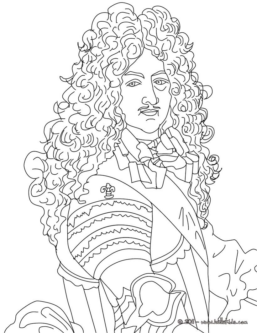 king louis xiv the sun king coloring page cc cycle 2