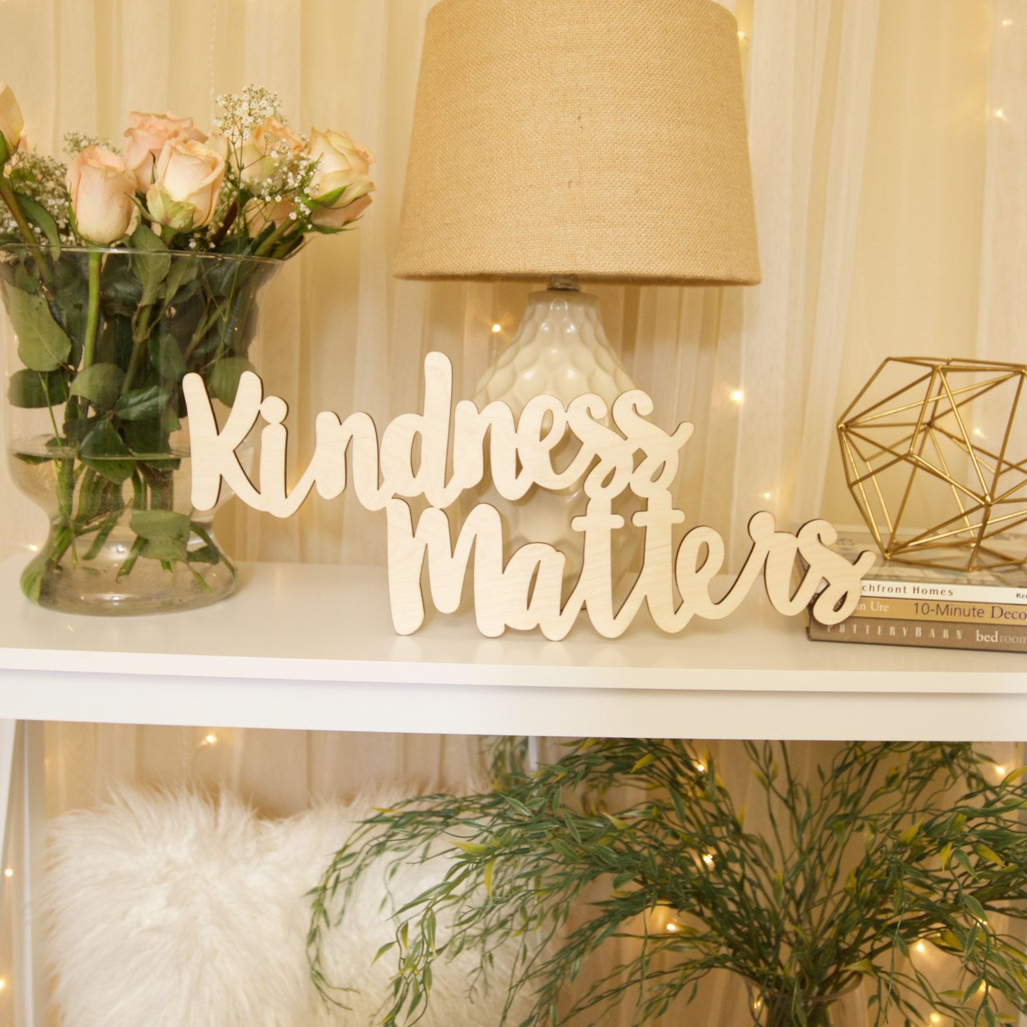Kindness Matters, wood wall decor, home, word, phrase, baltic birch ...