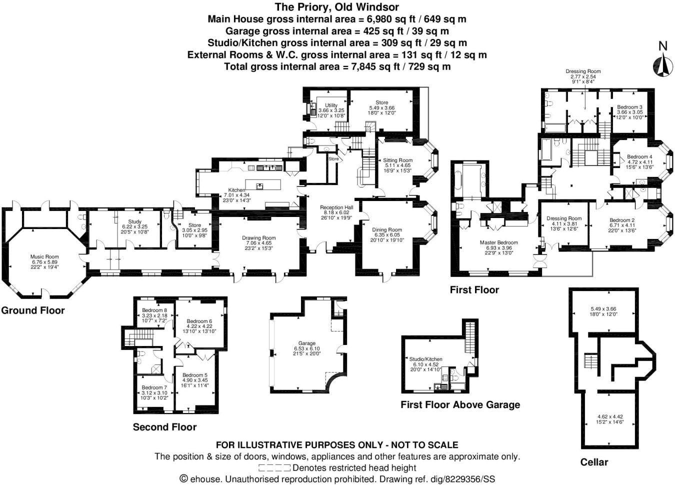 The Priory, Old Windsor, Windsor, Berkshire, Floorplan   Home Sweet ...