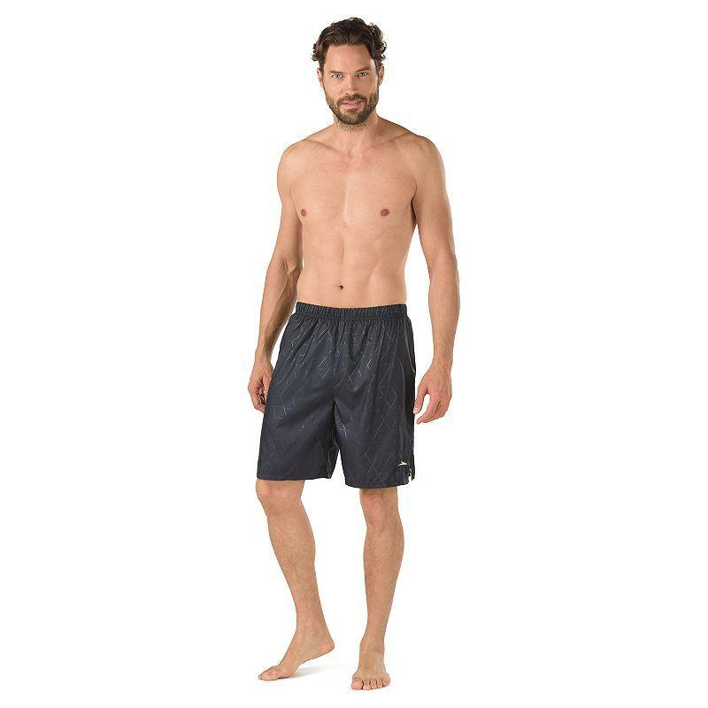 78902af2c9 Men's Speedo Geometric Tech Stretch Volley Swim Shorts, Size: Medium, Blue  (Navy)