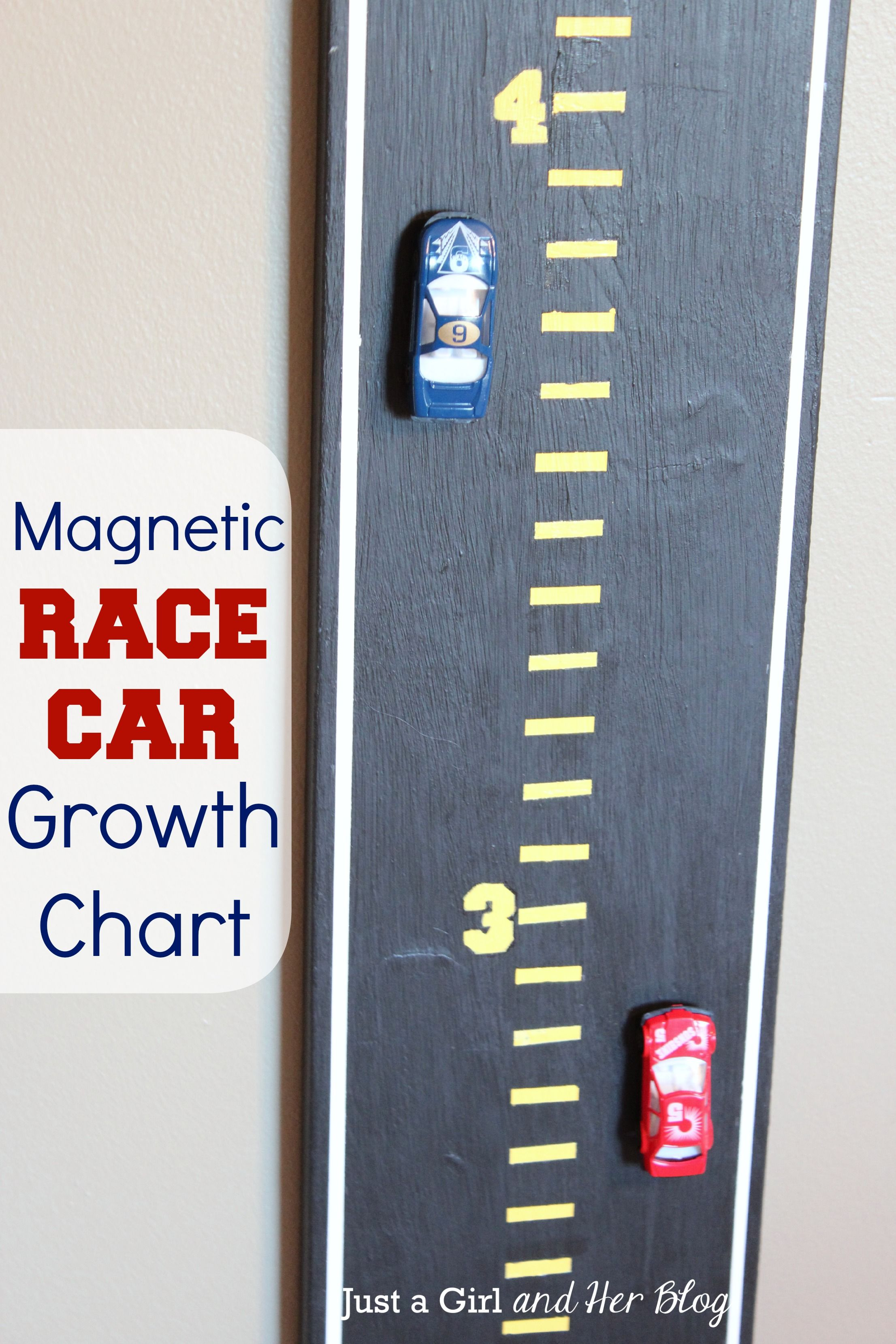 Magnetic Race Car Growth Chart | Growth charts, Chart and Cars