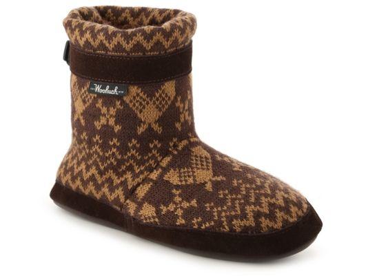 Women's Woolrich Whitecap Bootie Slipper - Brown/Tan