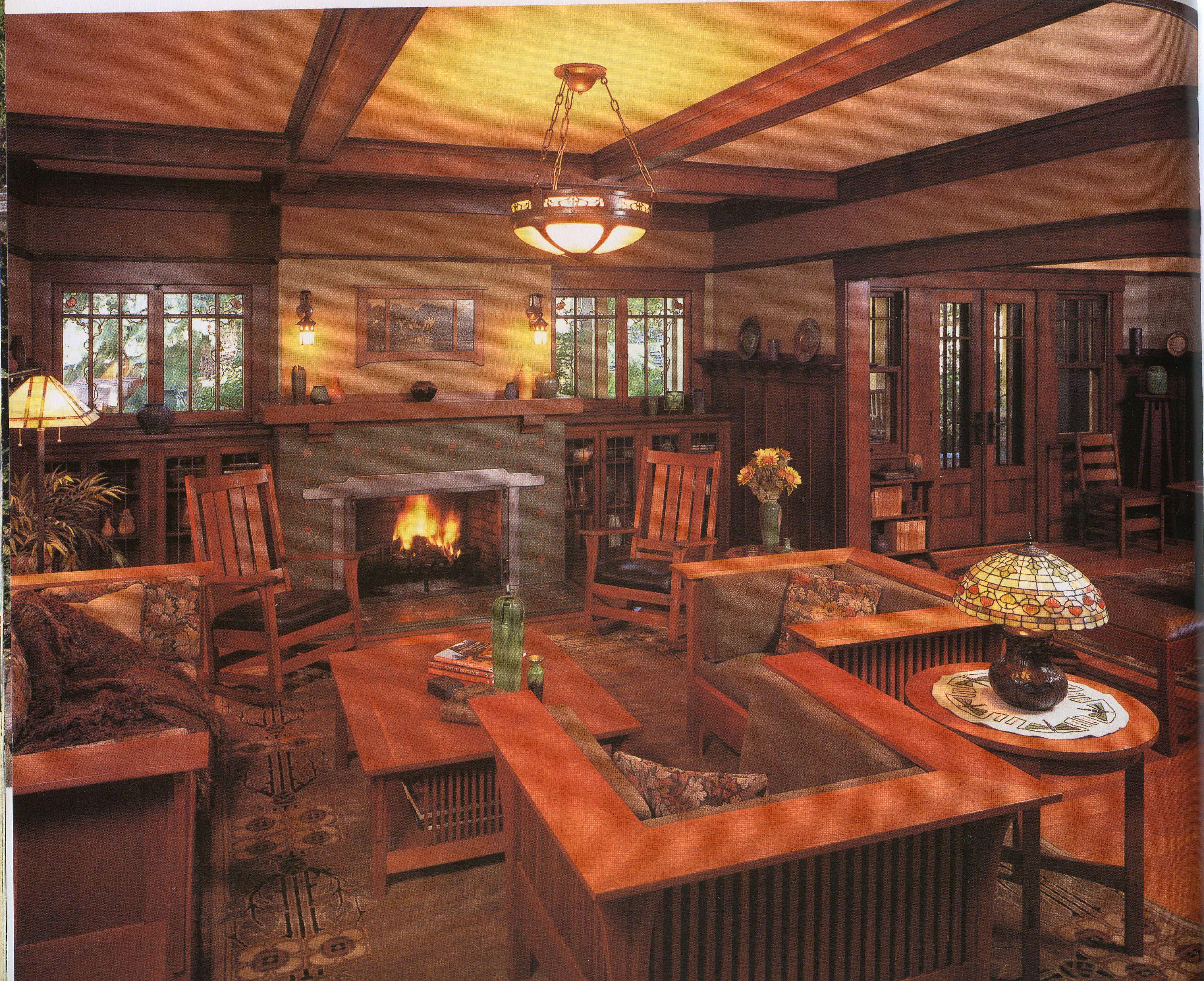 Craftsman living room | Craftsman Interiors | Craftsman living rooms, Craftsman style bungalow ...