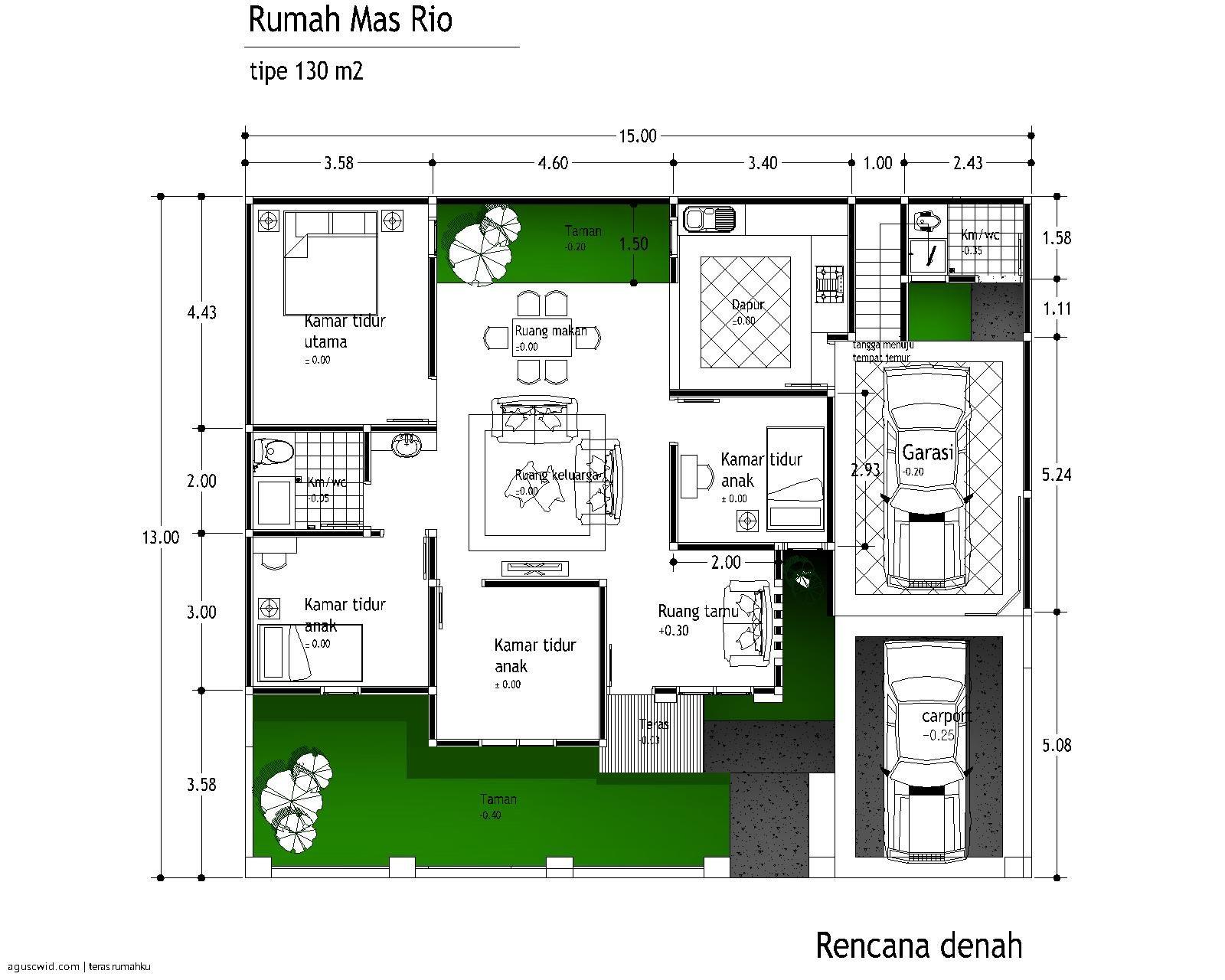 Denah Gambar Rumah Minimalis Sederhana