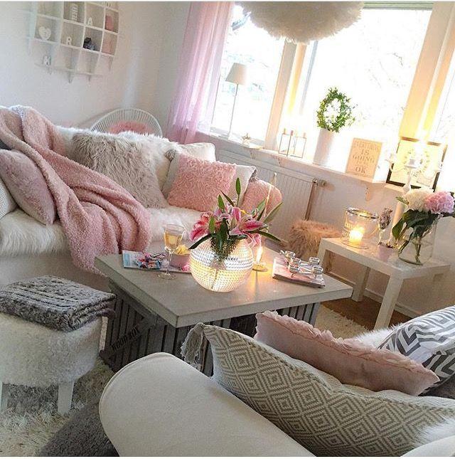 living room inspiration home cozy decor girly  living