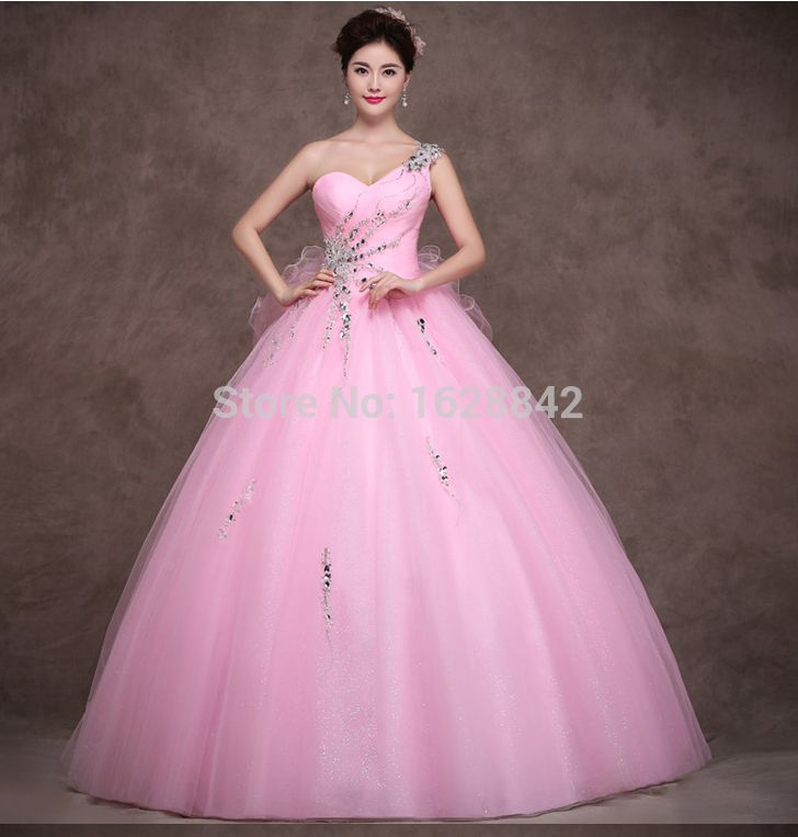 Free shipping elegant sexy pink beading backless quinceanera dresses ...