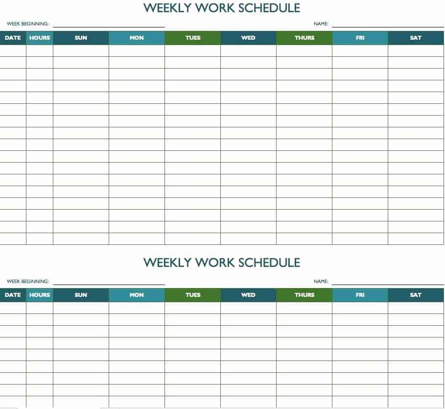 Weekly Calendar With Time Slots Excel Calendar Template With Time
