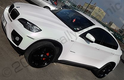Bmw X6 Wrapped Pearl White Black Rims Motos