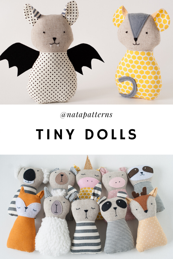 10 Animal doll sewing patterns PDF tutorial Animal stuffed Handmade toys fabric Animal gift sewing PDF Instant digital download Stuff easy #handmadetoys
