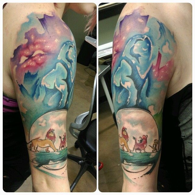 The Start Of The Watercolor Lion King Sleeve Lionking