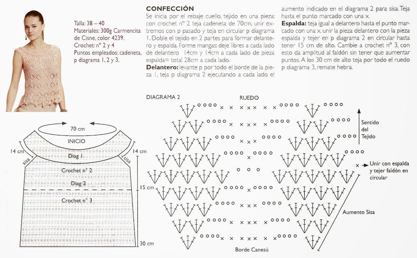 Top princesa que enamora en crochet - Patrones Crochet | рукоделие4 ...