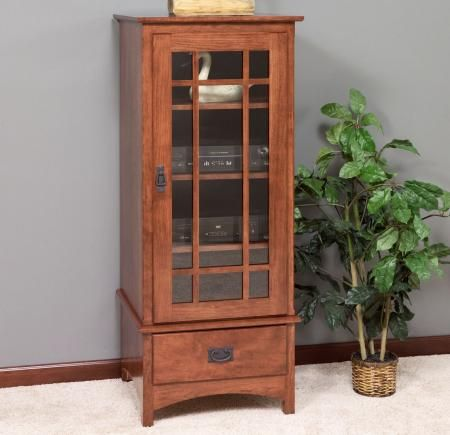 3154 Mission Stereo Cabinet Amish Furniture Furniture Home Decor
