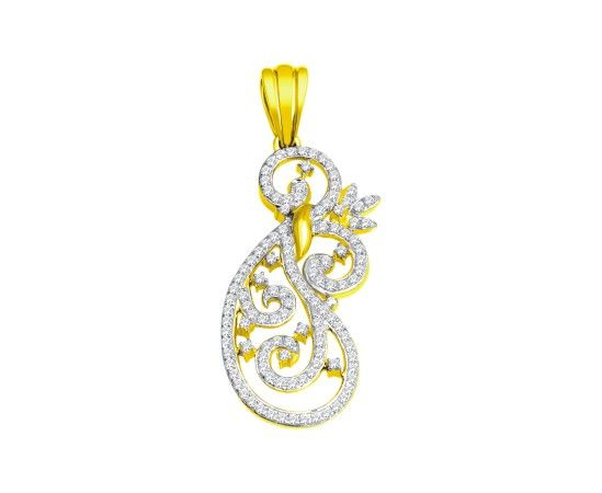 Make a fashion statement everyday with this dazzling 18kt gold real diamond pendants #diamond #jewellery #pendant