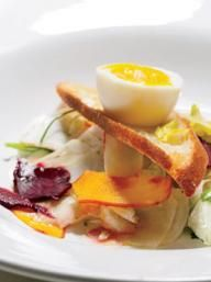 Pickled Vegetable Salad with Soft-Boiled Eggs | KitchenDaily.com