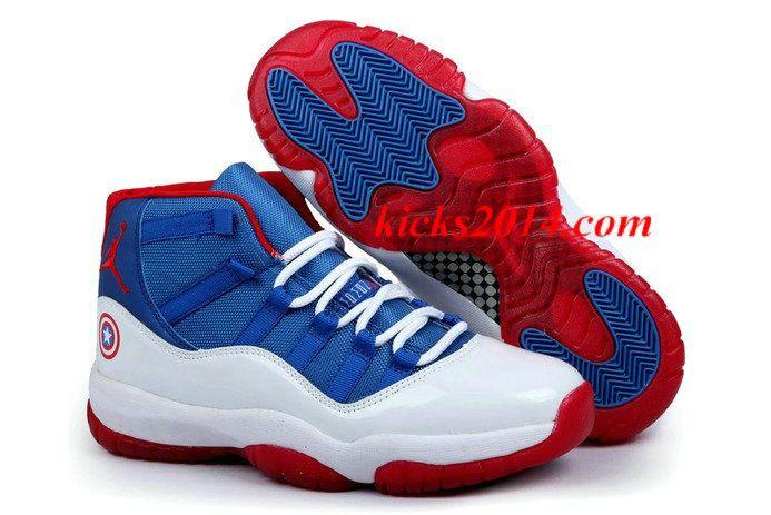 newest eedec e5104 Jordan Captain America 2014 Nike New Jordan 11 XI Retro Mens Shoes  Womens  Shoes 2014 4699  - 50% off Jordan