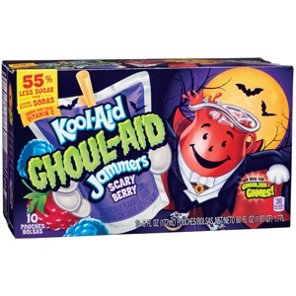 Kool Aid Ghoul Aid Jammers Scary Berry Flavored Drink 6 Oz Pouches Shop Juice At H E B Kool Aid Flavored Drinks Tropical Punch