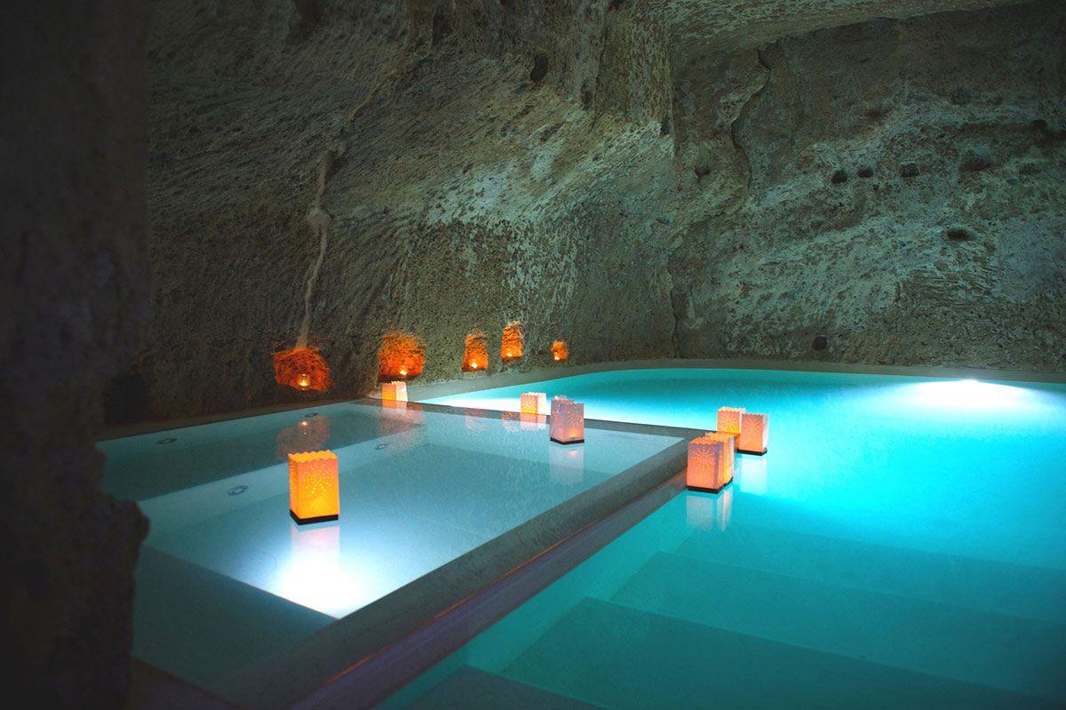 Inside Pool Cave underground cave, pool, jacuzzi, stunning renovation in civita di