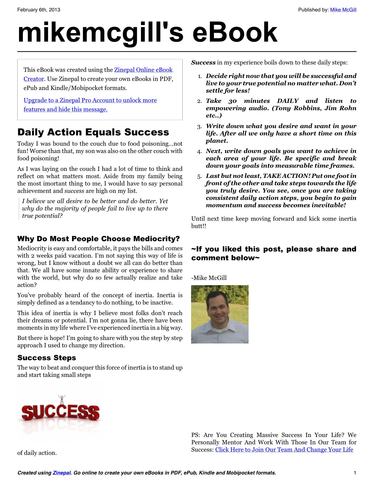 Daily Action Plan  Document Sharing