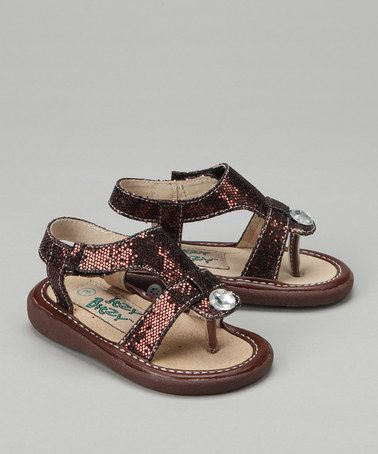 463228d88a Itzy Bitzy Brown Tessa Squeaker Sandal by Itzy Bitzy