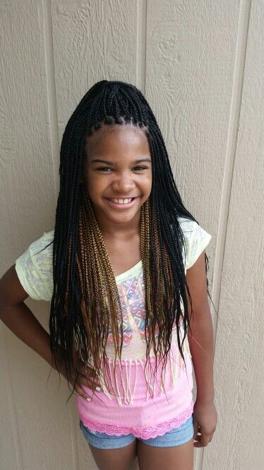 Kid Medium Box Braids For Maddy Maybe With Purple