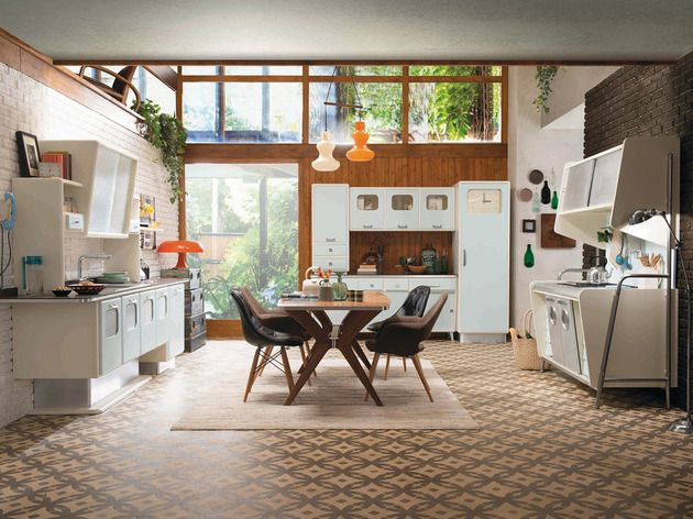 Retro Kitchen With 1950s Flare St Louis By Marchi Cucine Kitchens Showroom And Interior Architecture