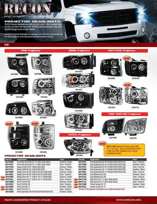 2009 Gmc Headlights Gmc Ford Super Duty Projector Headlights