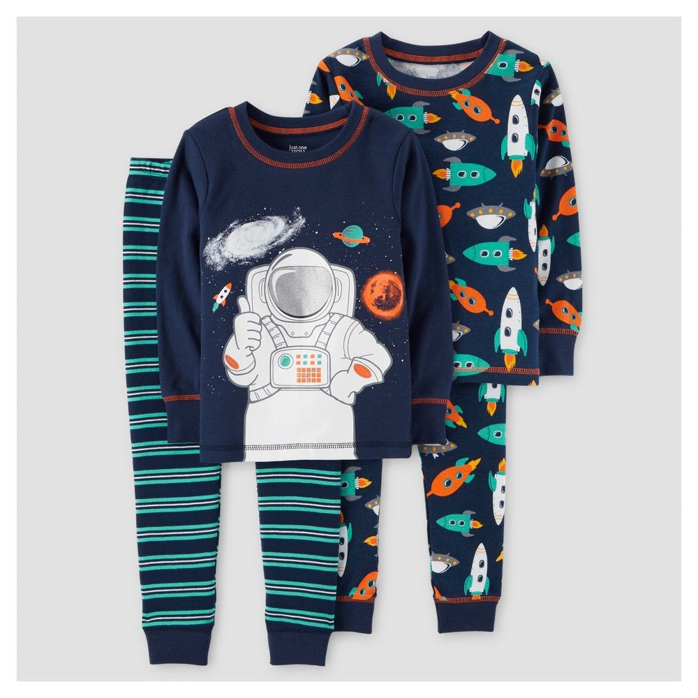 694f5766a Toddler Boys  4pc Astronaut Long Sleeve Cotton Pajama - Just One You ...