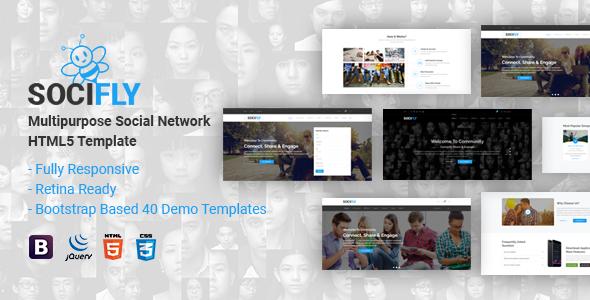 Socifly Multipurpose Social Network Html5 Template Html5 Templates Social Media Template Website Template