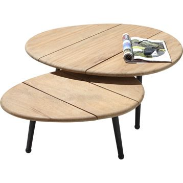 lot de 2 tables basses ovale | leroy merlin | table basse jardin
