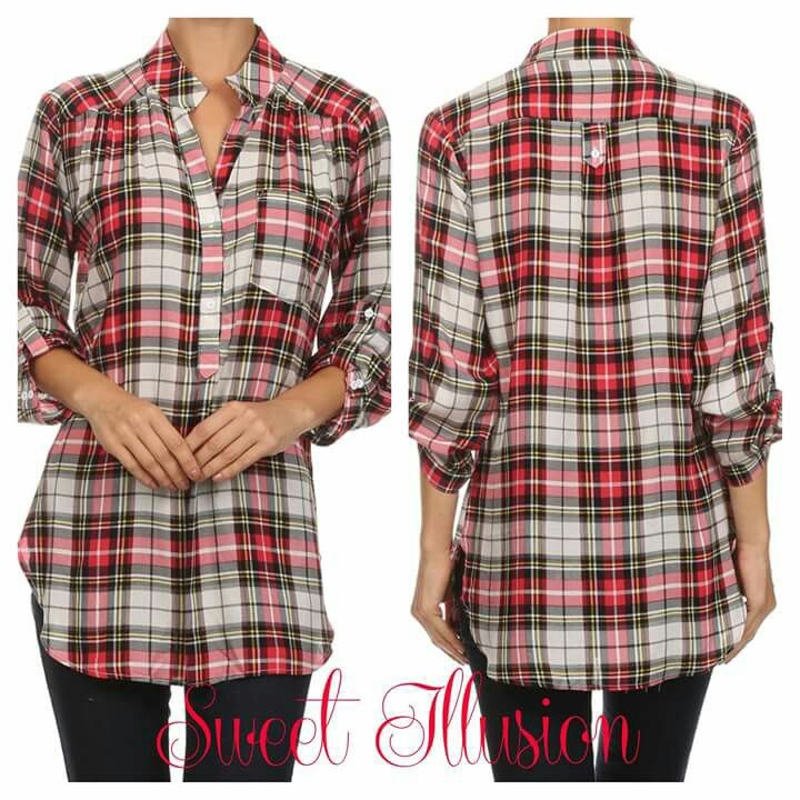 Plaid top. Perfect fit top!
