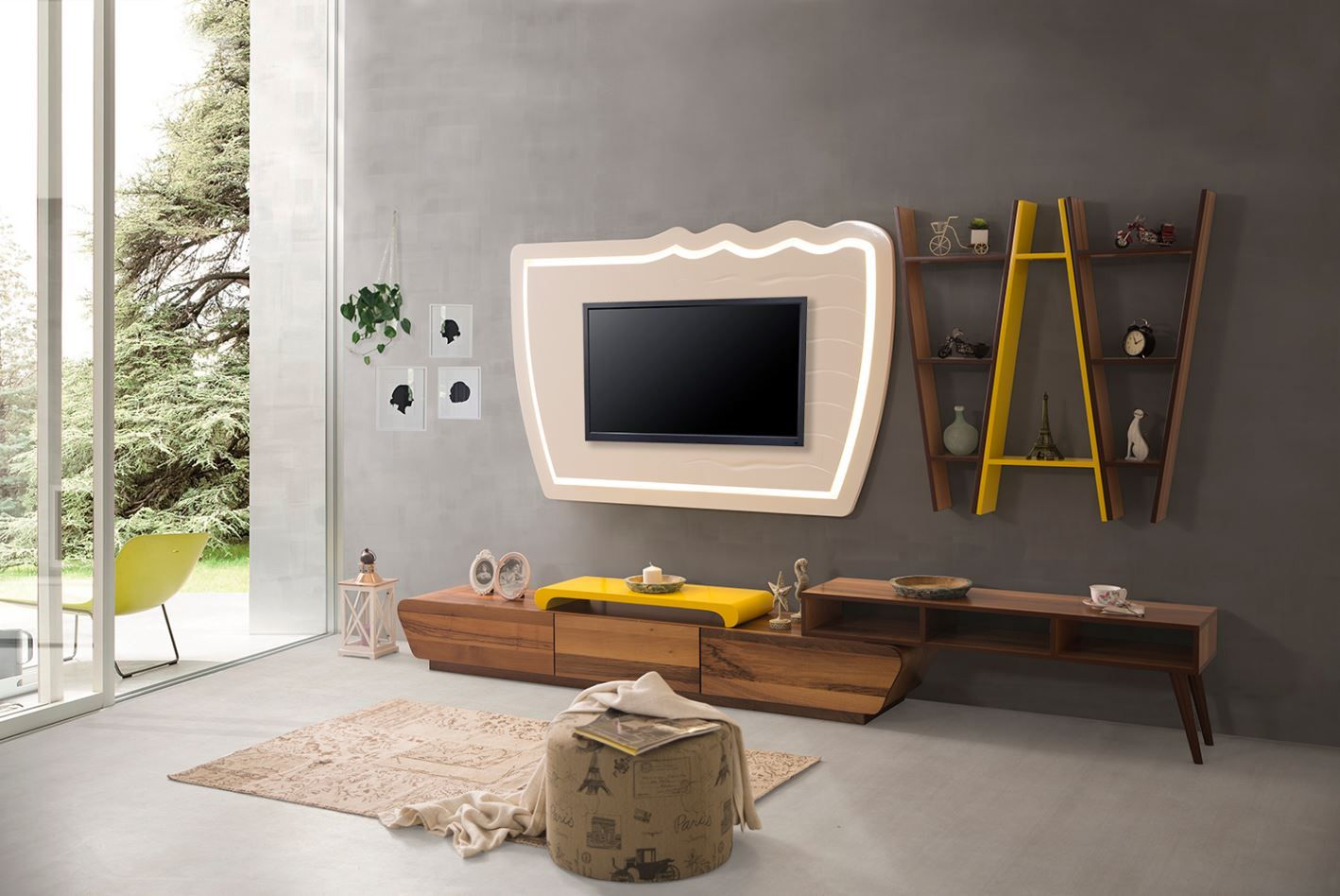 Modern yeni tv unite modelleri 7 - Farkli Tarz Arayanlara 2017 Tv Uniteleri Tvsromemodern