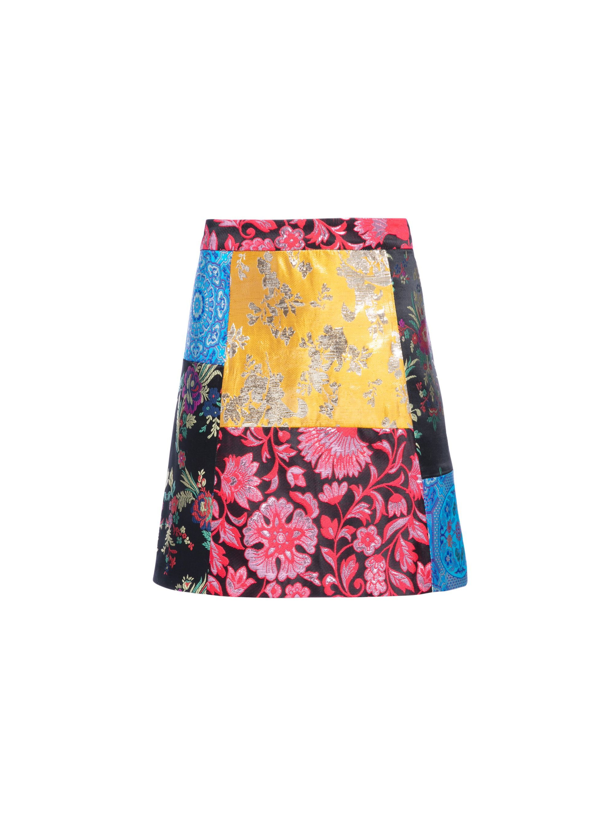78aa122a85a6 RILEY PATCHWORK MINI SKIRT by Alice + Olivia