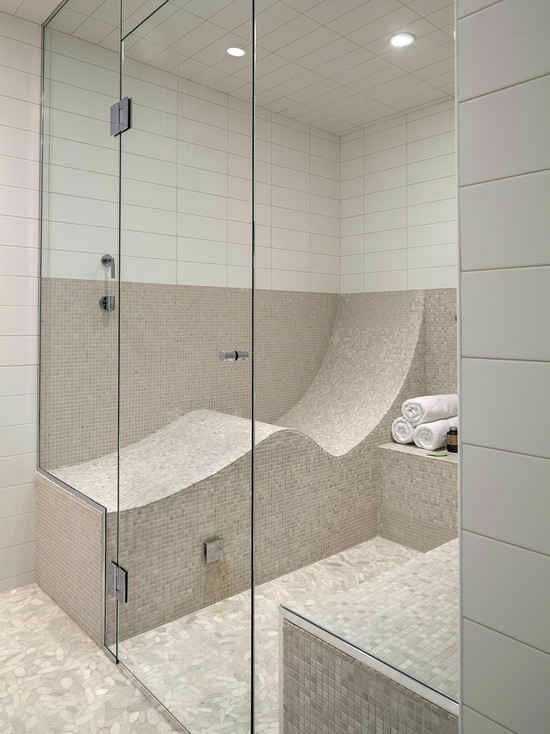 S shaped shower seat so you can lay down. I\'d have to have a ...