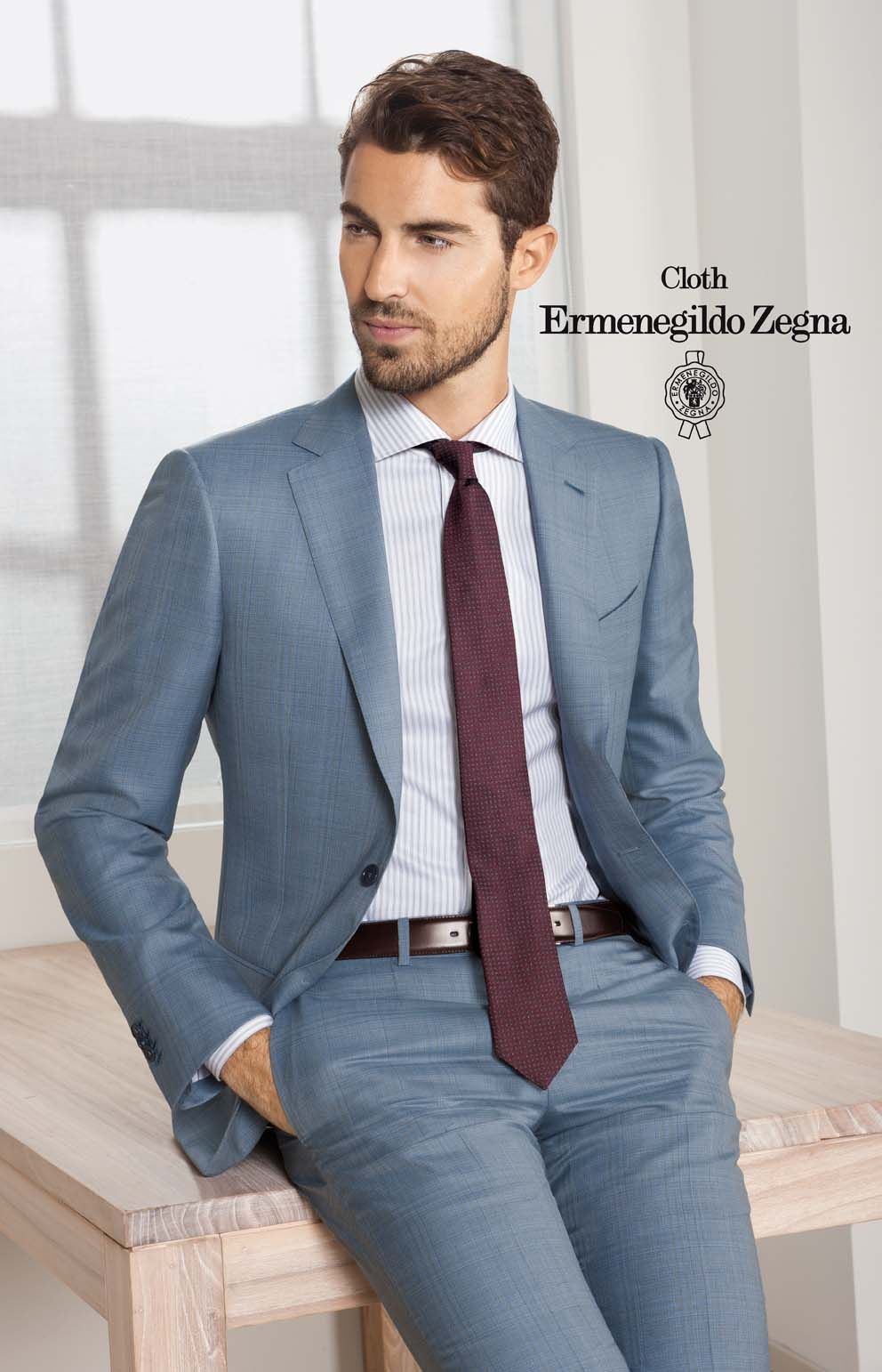 Abiti Eleganti Zegna.Collections Tailor Made With Cloth Ermenegildo Zegna