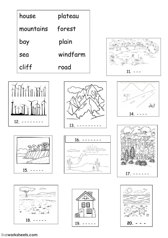 Land Features Worksheet In 2021 Worksheets 2nd Grade Worksheets Social Science
