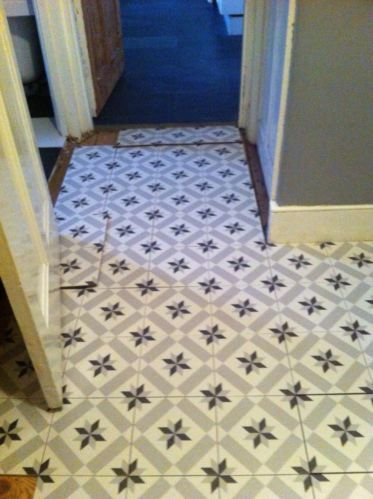 Bnib Floor Wall Tiles Encaustic Victorian Vintage Design Grey