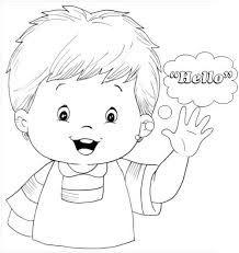 Resultado de imagen para good BYE para colorear para niños