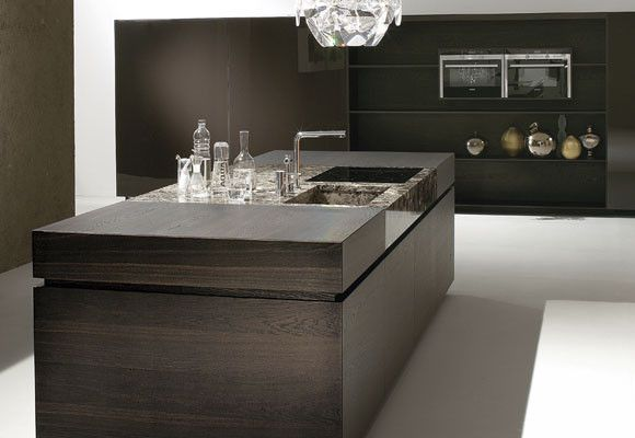 moderne k che kochinsel marmor holz key cucine wohnen. Black Bedroom Furniture Sets. Home Design Ideas
