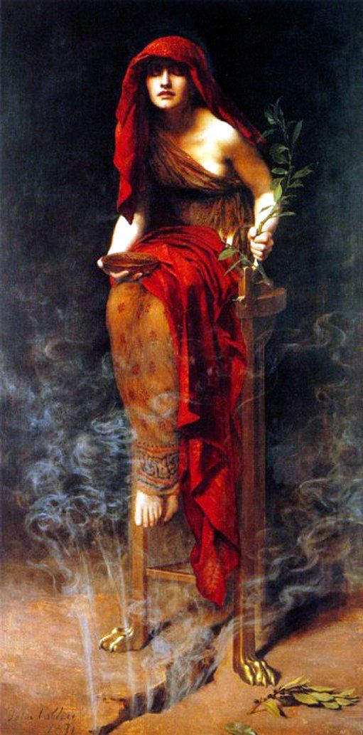 Priestess of Delphi by John Collier, 1891, British