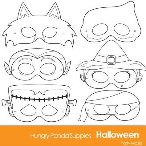 Halloween Masks, printable halloween costume, halloween costume ...