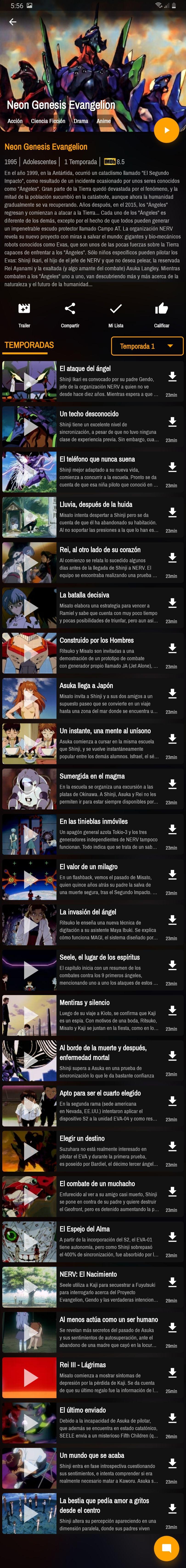 Neon Genesis Evangelion Temporada 1 Neon Genesis Evangelion Temporadas Ver Películas
