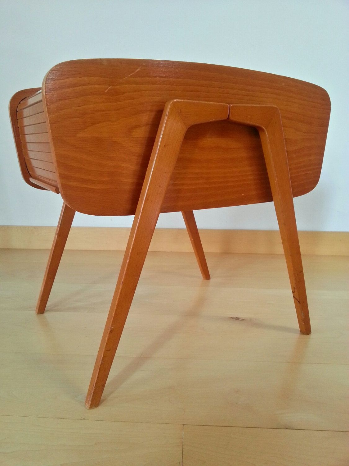 Sewing Box 50s Danish Design Mid Century Modern Wood Beech  # Muebles Nacho Polo