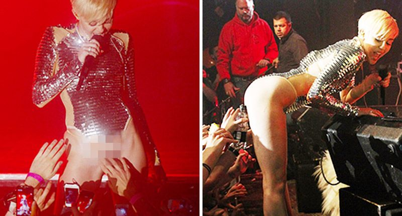 Miley cyrus allows fans to touch her vagina