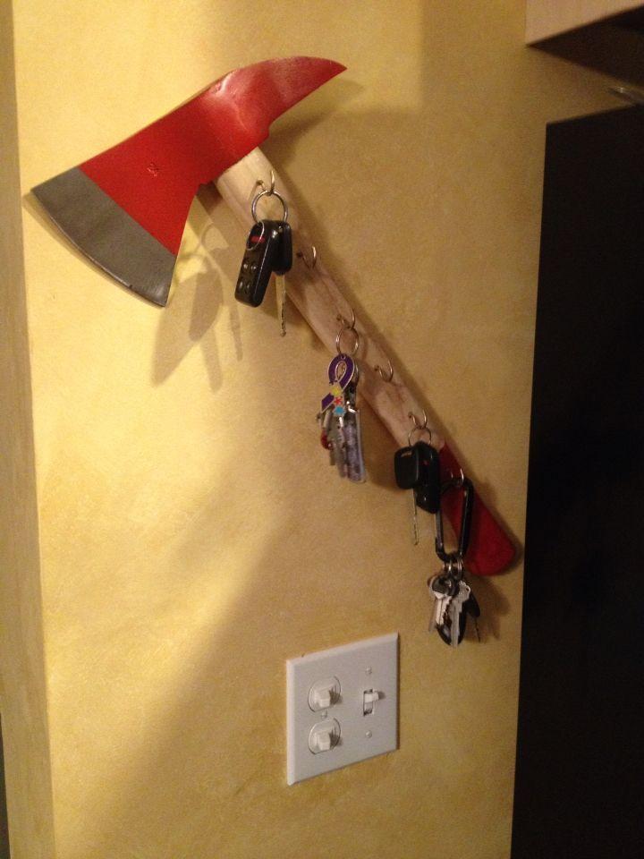 Firefighter Living Room Decor: Firefighter Axe Key Holder
