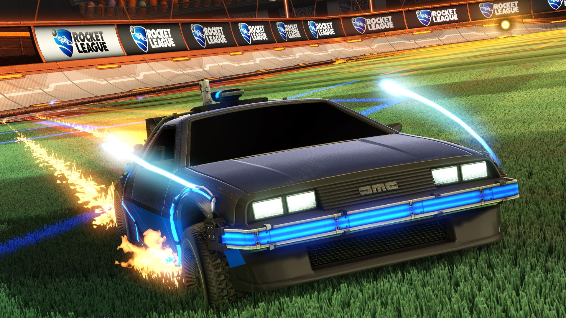 Rocket League's Back To The Future DLC Is Hot Rocket