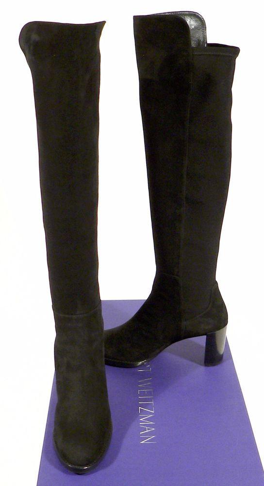 3e8dc17e6f8 New Stuart Weitzman Lowjack Black Suede Knee High Tall Boot Size 7.5M Spain  NWT  StuartWeitzman  AnkleBoots  Casual