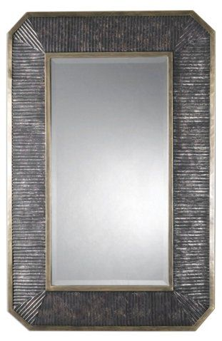 Baku Oversize Wall Mirror, Bronze | Lighted wall mirror ...